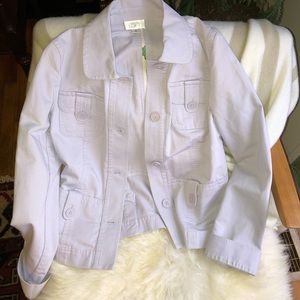 Ann Taylor Loft Lilac Denim Jacket 6